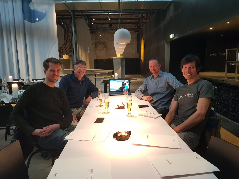 Foto van de eerste vergadering