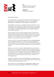 Brief aan college en gemeenteraad