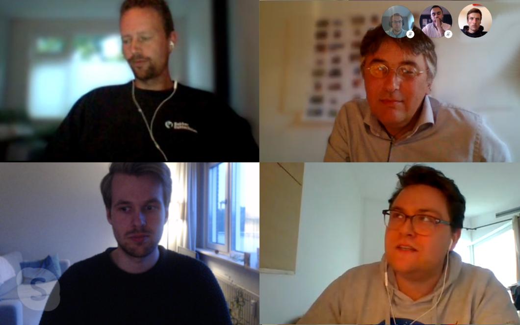 Schermafbeelding van Skypegesprek